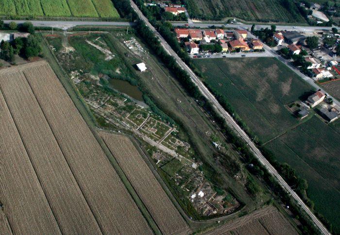 Veduta aerea dell'Antico Porto di Classe